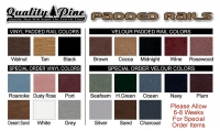 Quality Pine Padded Rail Colors