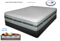 Sleep Sense Hybrid Smooth Top Series 17'' Catalina by Spring Air