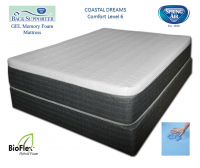 Spring Air 11 Inch Coastal Dreams Back Supporter Gel Memory Foam