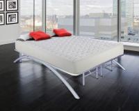 The Boyd Sleek Silver Bow Flex Arch Platform Metal Bed Frame