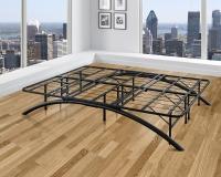 The Boyd Sleek Black Bow Flex Arch Platform Metal Bed Frame