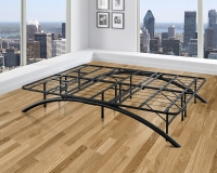The Boyd Sleek Black Bow Flex Arch Platform Metal Bed Frame