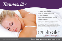 Thomasville™ Captivate® Synthetic Down GEL FIBER KING Pillow