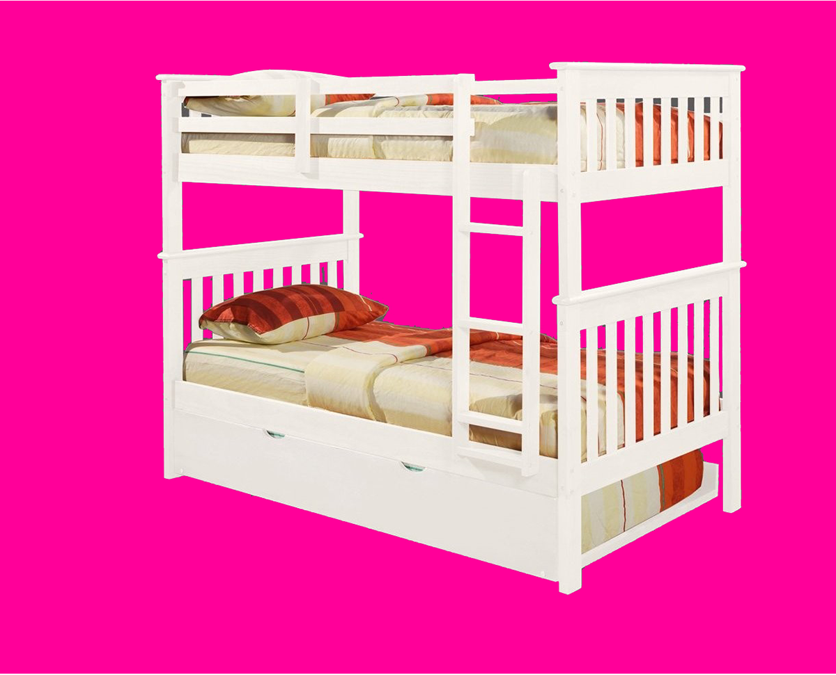 120-3w-T-T trundle-Mission-Bunkbed