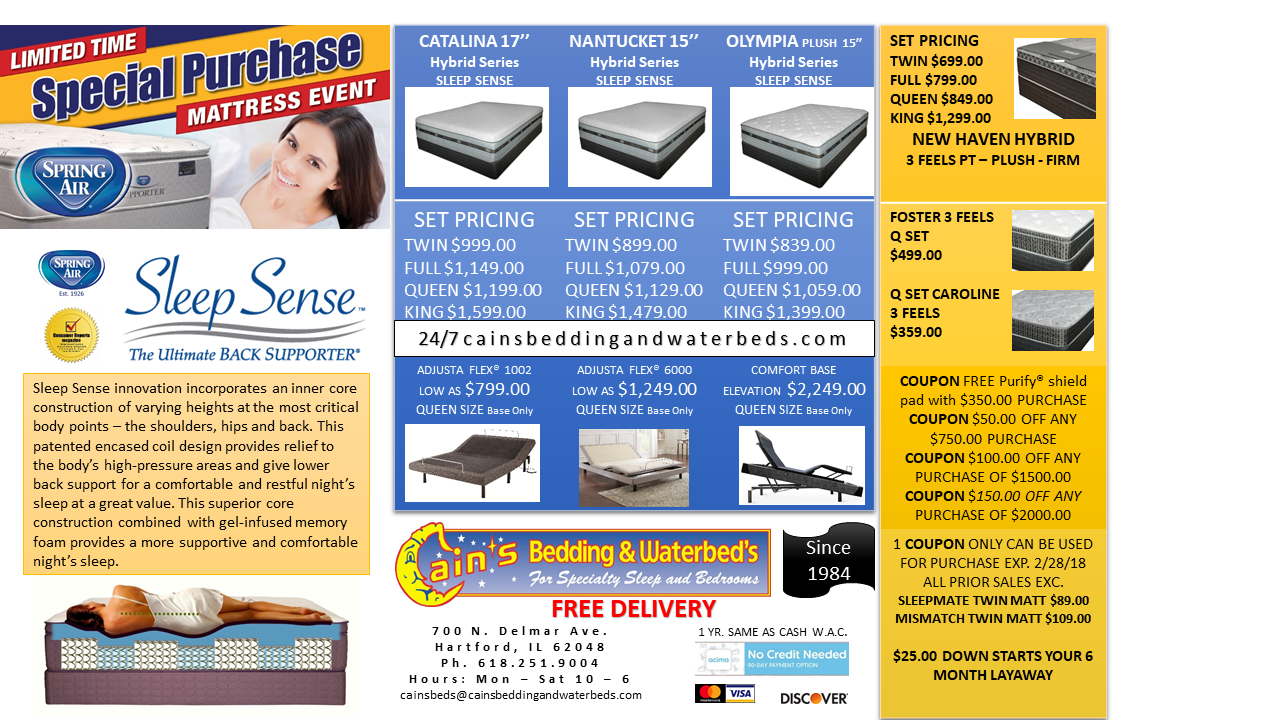 SPECIAL PURCHASE MATTRESS EVENT