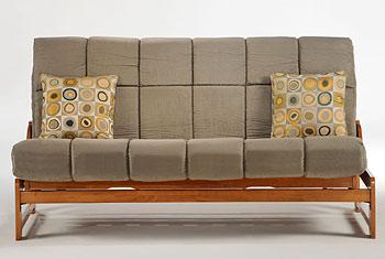 Pocket Coil Plus Mattress on futon frame
