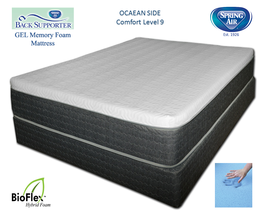 Spring Air 13 Inch Ocean Side Back Supporter Gel Memory Foam Mattress