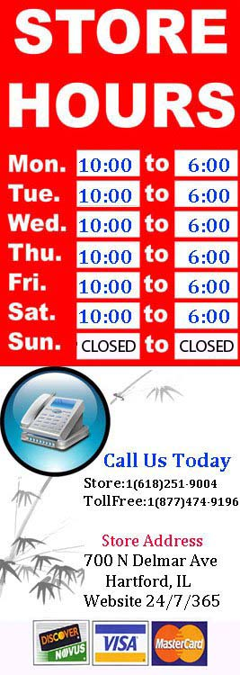 Stop By Or Contact Us Today!!! Monday - Saturday 10-6 Sunday CLOSED