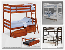 Sesame Twin/Twin Bunk Bed by Night and Day
