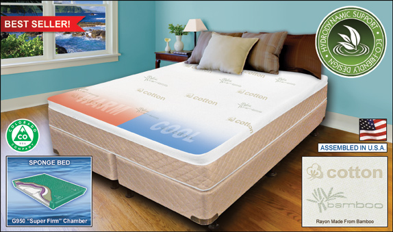 PERFECTION™ SPONGE BED™ FRAME FREE™ SOFTSIDE WATERBED THE FUTURE OF FLOTATION SLEEP IS HERE!